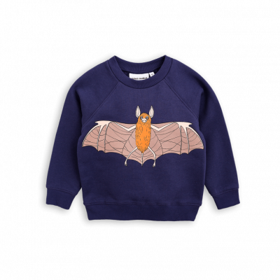 Mini Rodini Flying Bat Sweatshirt - Navy Colour