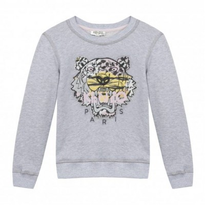 Kenzo Tiger Sweater Jungle Old Pink Grey 16A Adult Size10, M, 165