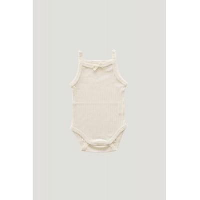 Jamie Kay Pointelle Singlet Bodysuit Natural Meadowland Drop2