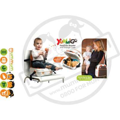Benbat Yummigo Portable Booster Chair Feed & Go Storage Orange
