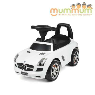 Mercedes SLS Foot to Floor Ride On - White