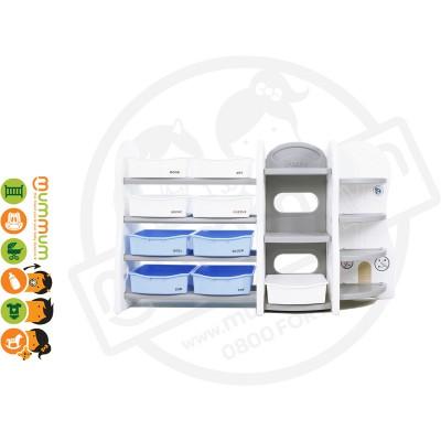 iFam DESIGN Toy Organizer 6 (GREY) L153xD36xH91 Made in Korea