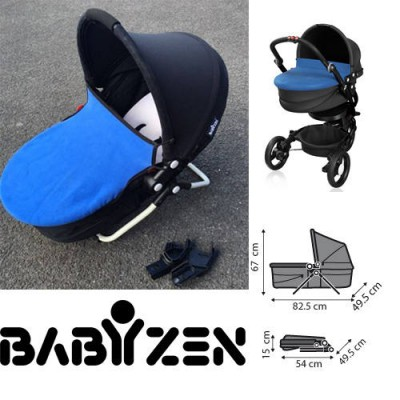 Babyzen Zen Free Stand Bassinet for Zen Stroller Blue/Black Display unit