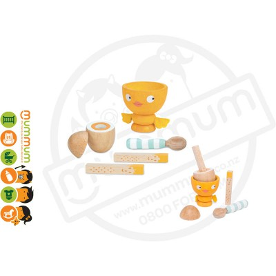 Le Toy Van Chicky Chick Wooden Egg Cup Set 3Y+