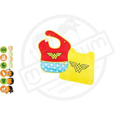 Bumkins DC Comics SuperBib With Cape - Wonder Woman