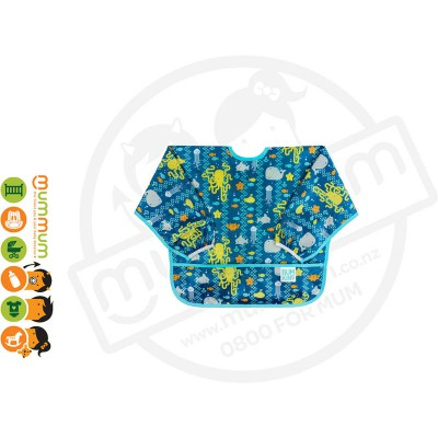 Bumkins Waterproof Sleeved Bib Sea Friends 6-24M