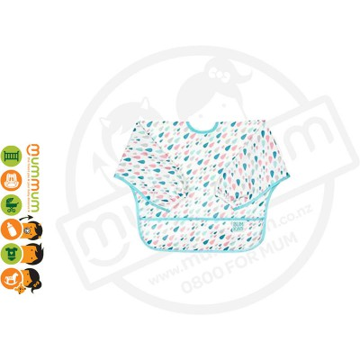 Bunkins Waterproof Sleeved Bib - Raindrops 6-24M