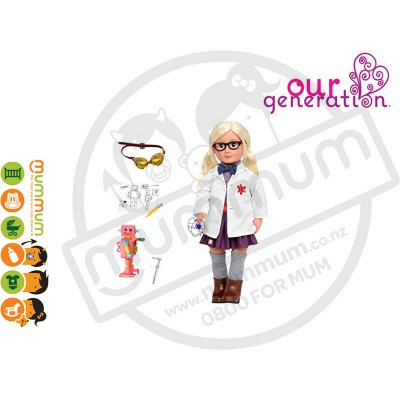 Our Generation Professional Doll Amelia Scientist 18inch