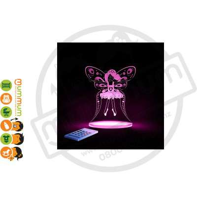 Aloka Night Light Fairy Princess Multi Colour With Remote Control