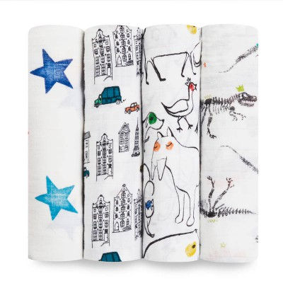 Aden and Anais  Muslin Wrap color pop classic 4pk