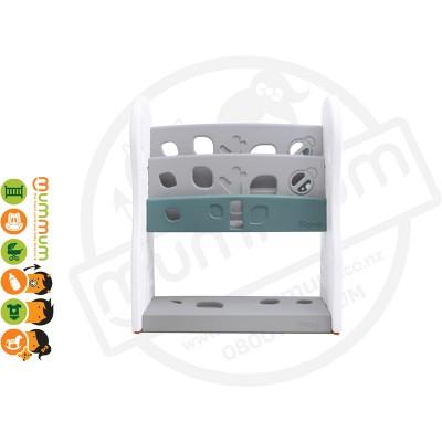 iFam DESIGN Open Book Shelf 2 Level Grey L80xD36xH92 Made in Korea