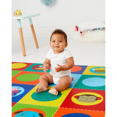 Skip hop double reversible playmat zoo