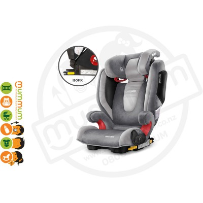 Recaro Monza Nova SeatFix Carseat Booster Seat for 3Y-12Y