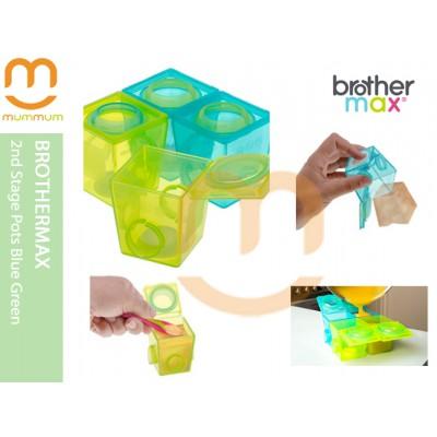 Brothermax 2nd Stage Pots Blue Green Freezer Single 170ml