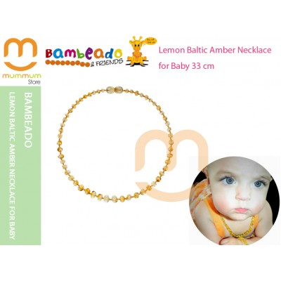 Bambeado Lemon Baltic Amber Necklace for Baby