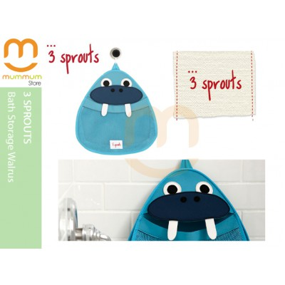 3 Sprouts Bath Storage Toy Storage Bay Blue Walrus