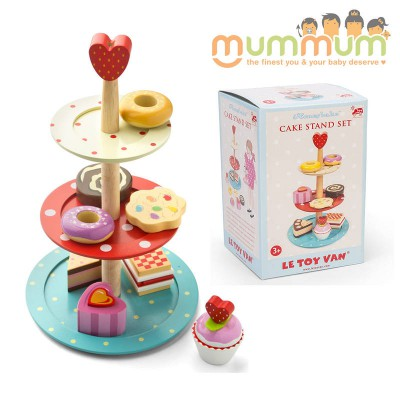 Le Toy Van Honeybake 3 Tier Wooden Cake Stand Girls Tea Party