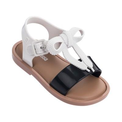 Mini Melissa Mar Sandal B Black/White Gloss
