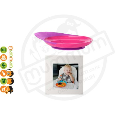 Boon Catch Plate Toddler Plate With Spill Catcher (Magenta/Pink/Purple)
