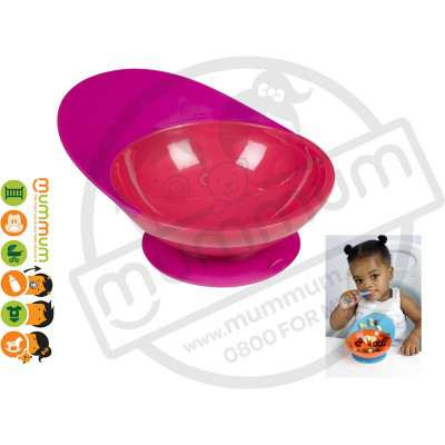 Boon Catch Bowl Toddler Training Bowl Suction Base (Magenta/Pink/Purple)