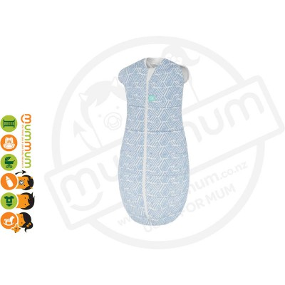 ergopouch cocoon Swaddle 0.2TOG Tribal Blue Choose Sizes 0-12m Pure Cotton