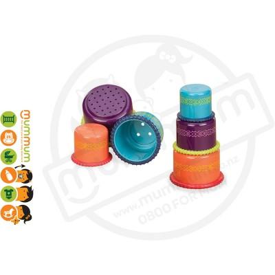 Battat Up Up Cups Toys 3yr+ 3pcs