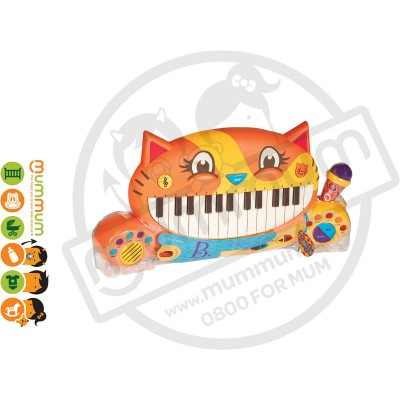 Battat Meowsic Musical Toy Keyboard & Microphone 2-6Yr
