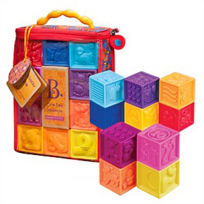 Battat One Two Squeeze Soft Blocks
