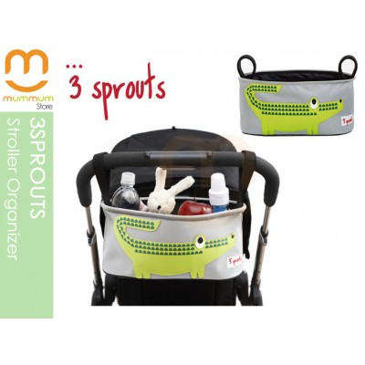 3 Sprout Stroller Organizer Crocodile Wipeable