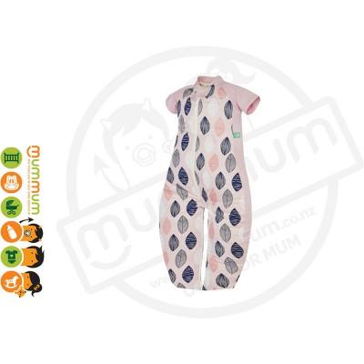 Ergopouch Sleepsuit Bag Pink Leaf 1.0TOG Choose Sizes 2m-6Y Pure Cotton