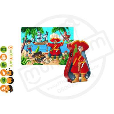 Djeco The pirate and the treasure puzzle 36 pieces 4Y+
