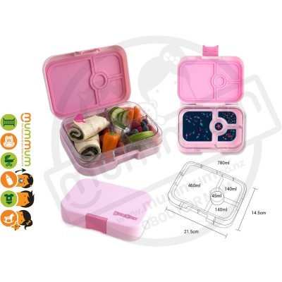 Yumbox Bahamas Pink 4 - Compartment Food Tray