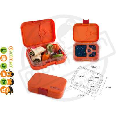 Yumbox Mumbai Orange 4 - Compartment Food Tray
