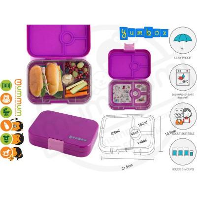 Yumbox 4 Panino Bijoux Purple Best Lunch Box Non Spill