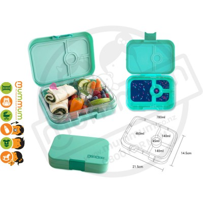 Yumbox Tahiti Green 4 - Compartment Food Tray