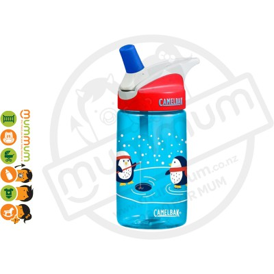 CamelBak eddy Kids 400ml Bottle Ice Fishing Penguins