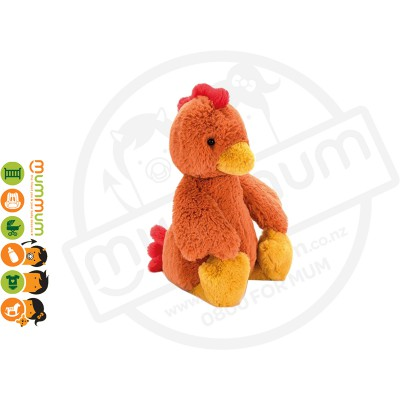 Jellycat Bashful Rooster Medium