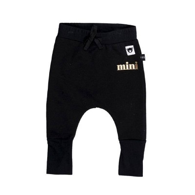 Huxbaby Black High Cuff Pant Fleece Black 1-5y