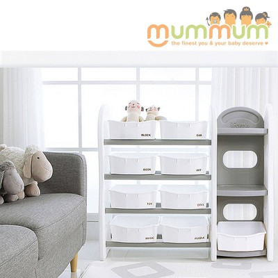 iFam DESIGN Toy Organizer 4 (GREY) L115xD36xH91 Made in Korea