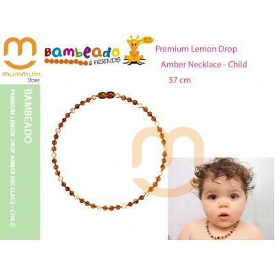 Bambeado Premium Lemon Drop Amber Necklace - Child