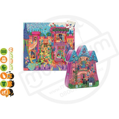 Djeco Silhouette Puzzle - the Fairy Castle  54pieces 5Y+