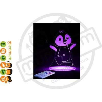 Aloka Night Light Penguin Multi Colour With Remote Control