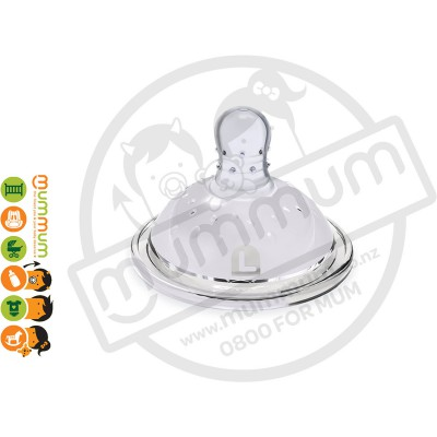 Haakaa Wide Neck Silicon Anti-Colic Nipple L 2pcs