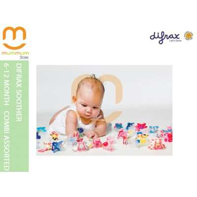 Difrax Soother 6-12 Combi (Assorted Colors)