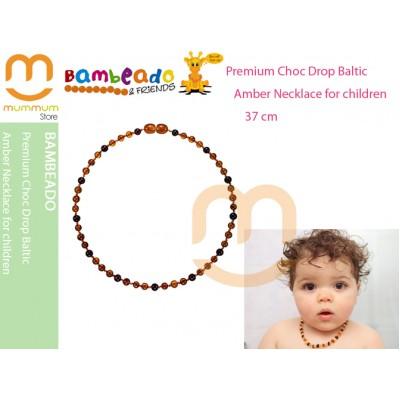 BambeadoPremium ChocDropBaltic AmberNecklace-Child