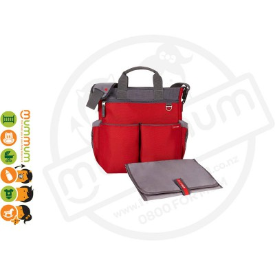 Skip Hop Duo Signature Nappy Bag Red