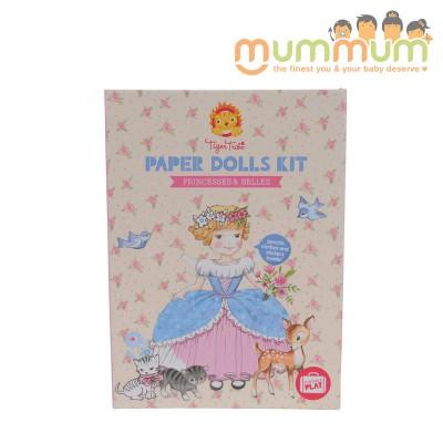 Tiger Tribe Paper Dolls Kit Princess & Belles For 5ys