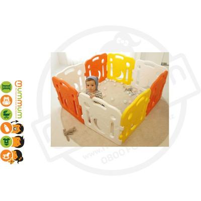 iFam Miffy Baby Room Playpen Yellow +  Orange + White (10PCS) L2.1xW1.3xH66 Made in Korea