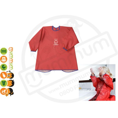 Babybjorn Eat & Play Smock Long Sleeve Water Proof Red