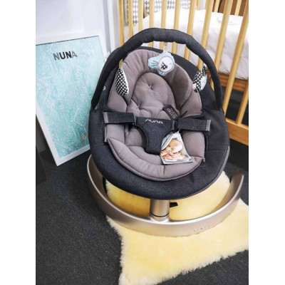 Nuna Leaf Limited Edition Suited All Black with Toy Bar Included Best Rocker Bouncer